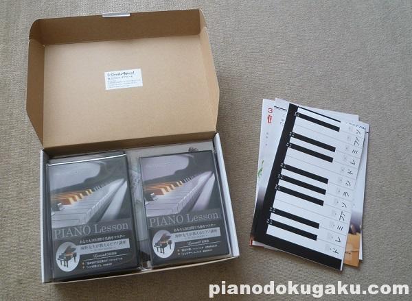 30日でマスターするピアノ教本&DVD 第1・2・3弾セットを開封